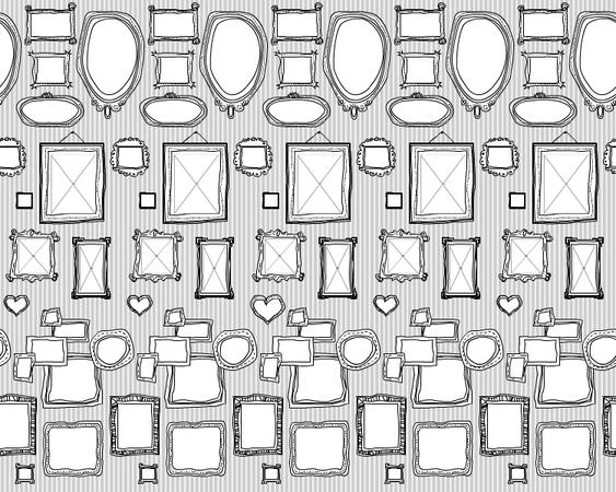 tapete illustrierte rahmen style your castle. Black Bedroom Furniture Sets. Home Design Ideas